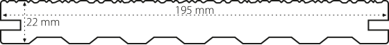 Terasový profil max forest